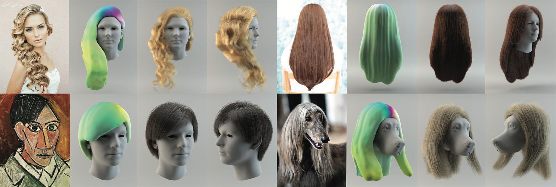 3d Hair Synthesis Using Volumetric Variational Autoencoders Linjie Luo